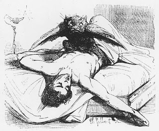 Nightmare, in Le Diable Amoureux by J Cazotte 1845