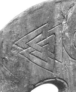valknut op Oseberg bed