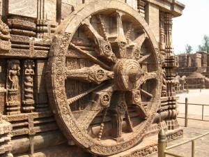 Wheel at Konark Temple