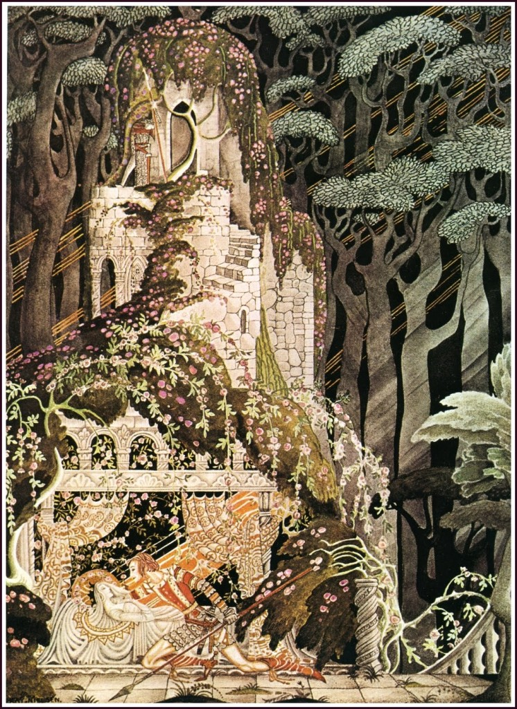 k nielsen sleeping beauty via goldenagecomicbookstories.blogspot.fr