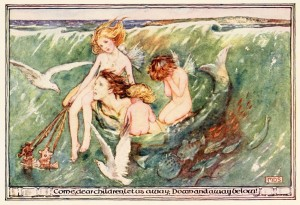 Minnie-Dibdin-Spooner-The-Forsaken-Merman-The-Golden-Staircase-1906
