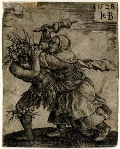 Jacob Binck - Heks valt de duivel aan 1528