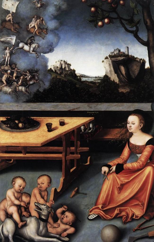 Lucas Cranach melancholia 1528