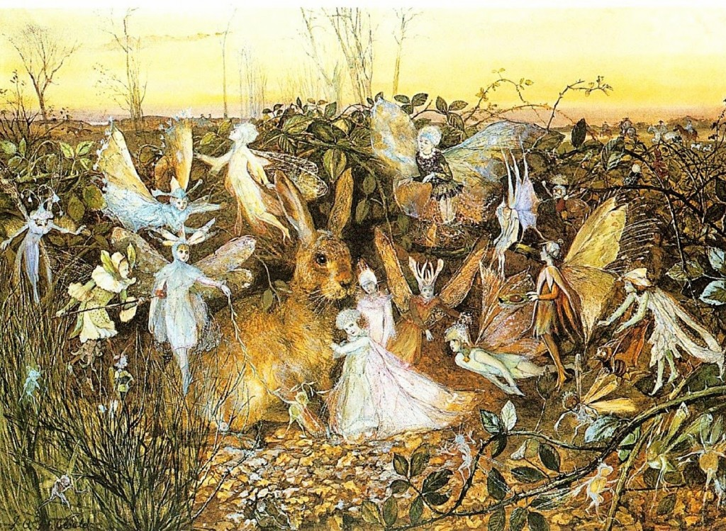 alven A-Rabbit-Among-The-Fairies--John-Anster-Fitzgerald--1832-1906