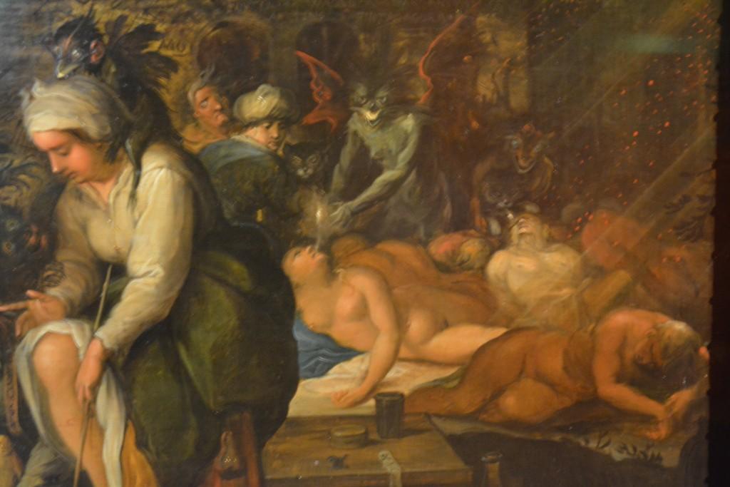 Frans Francken - Heksenkeuken (detail)